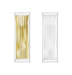 transparent plastic bag white package for pasta vector image