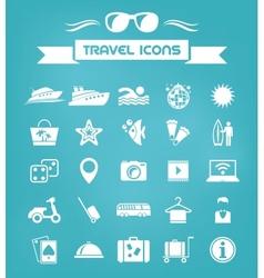 Travel Flat Icon Set vector