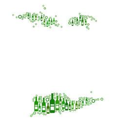 Usa virgin islands map composition of wine bottles vector