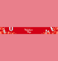 valentines day banner background holiday design vector image
