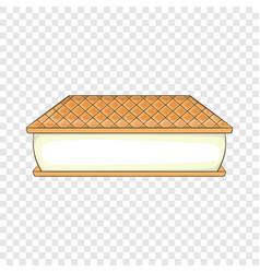 Waffle ice cream icon cartoon style vector