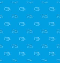 Waist bag pattern seamless blue vector