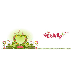 wedding arch for wedding ceremony template banner vector image