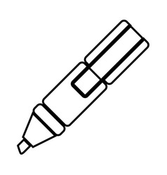 White figure highlighter pen icon vector