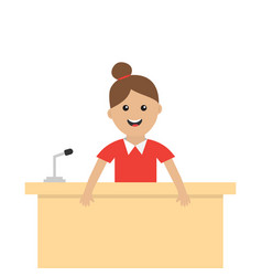 Women female girl people consultant table vector
