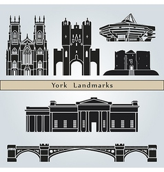 york landmarks and monuments vector image