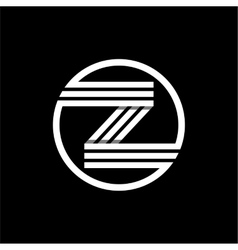 Z capital letter of three white stripes enclosed vector image