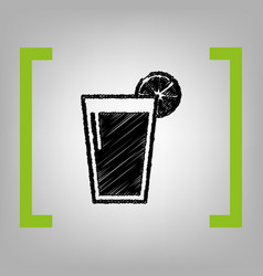 glass of juice icons black scribble icon vector image