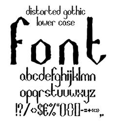 Handwritten black distorted gothic lower case vector image vector image