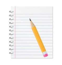 paper notebook vector image