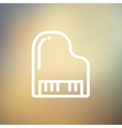 Piano thin line icon vector image vector image