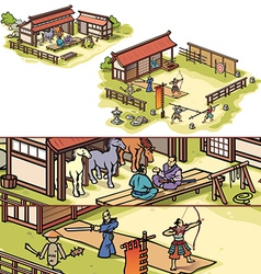 Samurai Training Camp vector image