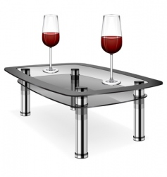 wine glasses on table vector image