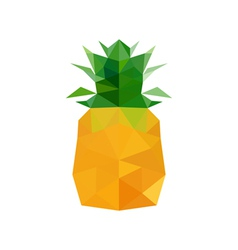 abstract origami pineapple vector image vector image