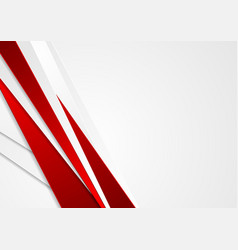 Abstract red and grey stripes corporate background vector