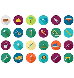 Construction round icons set vector image vector image