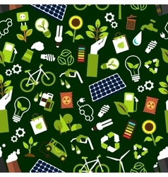 Eco friendly and saving energy seamless pattern vector image