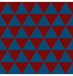 Indigo Blue Red White Triangle Background vector image vector image