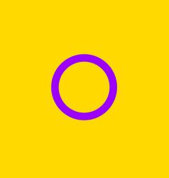 intersexual symbol people flat icon vector image