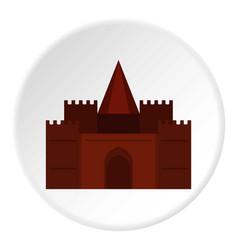 medieval palace icon circle vector image