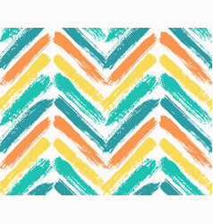 painted chevron pattern blue yellow vector image