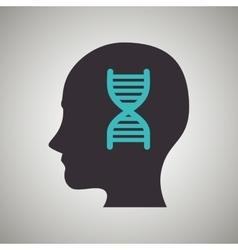thinking profile design vector image