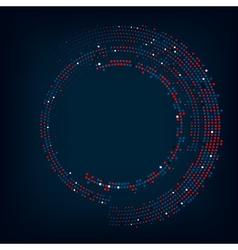 Abstract circle halftone vector image vector image
