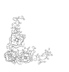 Antistress coloring book page design for adults vector image vector image