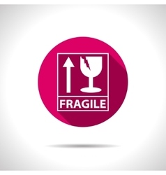 Fragile icon vector image