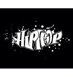 hip-hop graffiti vector image vector image