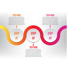 infographic circle curve 3 step vector image vector image