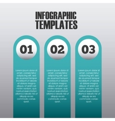 infographic presentation template vector image vector image
