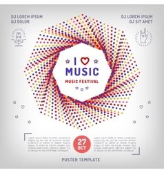 music retro square banner poster or card vector image vector image