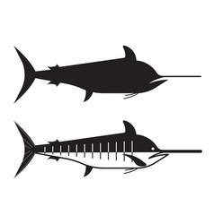 swordfish or marlin icon vector image