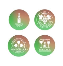 Wine logos in blurred circles backgrounds vector image vector image