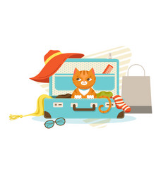 Bright colorful travel bag concept vector