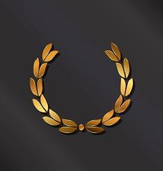Golden laurel logo vector image vector image