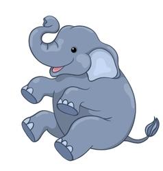 Happy elephant sitting vector image vector image