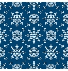 New year seamless background vector image