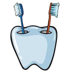 Toothbrush brush holder vector image vector image