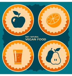 Vegan food poster design vector image vector image