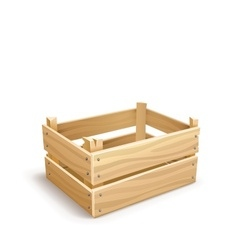 Wooden box for fruits and vector image