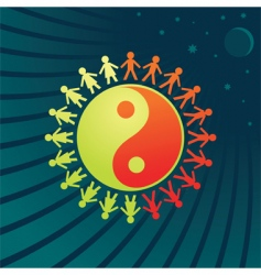 Yin Yang symbol vector image