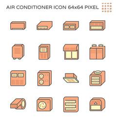 20170731 air conditioner icon cs 64x64 red vector