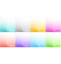 abstract colorful light background set vector image