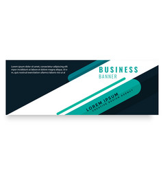 abstract green design business banner image vector image
