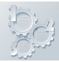 Abstract modern infographics design with cogwheels vector