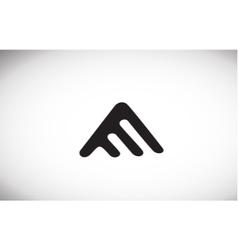 Alphabet letter A black white logo icon design vector image