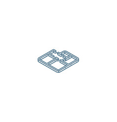 architectural drawings apartment plan isometric vector image