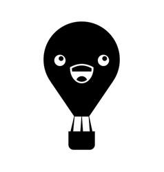 balloon air hot kawaii character vector image
